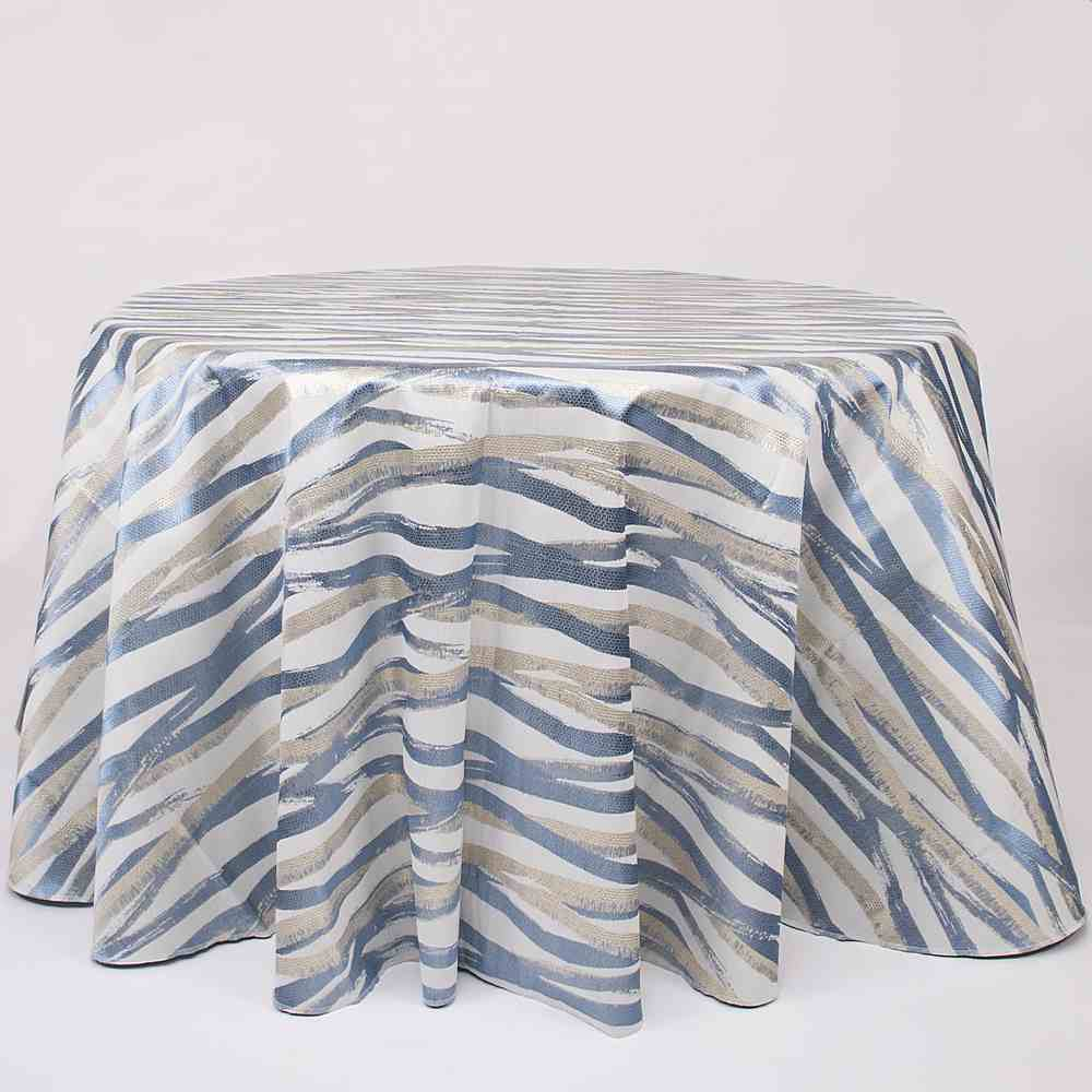 M1153 DENIM RESIDENTIAL GRADE JACQUARD WOVEN METALLICS BLUE POLYESTER 100% DOUBLE WIDTH ROLL MODERN/CONTEMPORARY GEOMETRIC BEDDING PILLOW EVENT DECORATIVE DRAPERY ABSTRACT ANIMAL