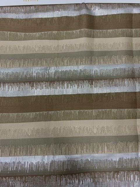 M1156 EARTH RESIDENTIAL GRADE JACQUARD WOVEN METALLICS NOVELTIES POLYESTER 100% DOUBLE WIDTH RAIL ROADED GEOMETRIC FURNITURE PILLOW EVENT DECORATIVE DRAPERY BROWN