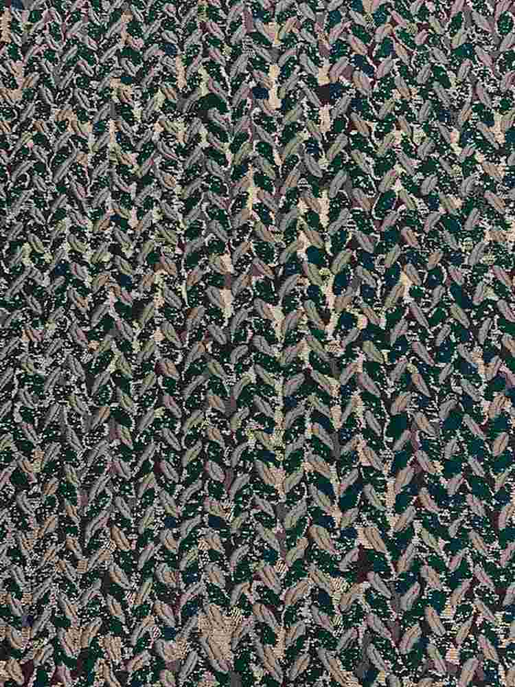 "M1157 / EMERALD / ""FESTIVE"" 100% POLYESTER AND LUREX WOVEN JACQUARD"